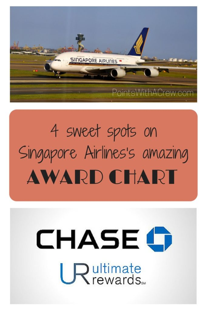 4 sweet spots on Singapore Airlines\u0027s amazing award chart - Points