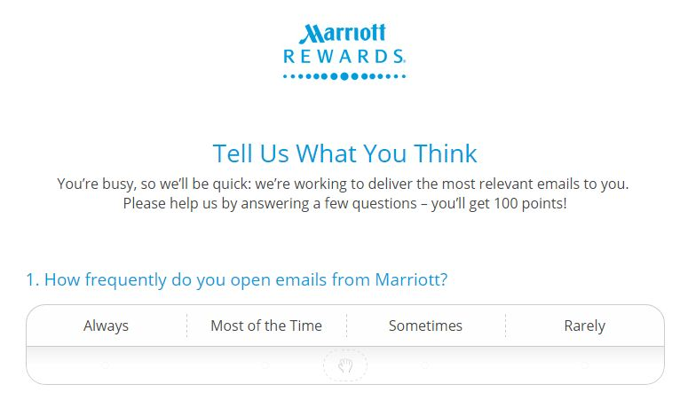 100 Free Marriott points - takes 10 seconds - Points with a Crew