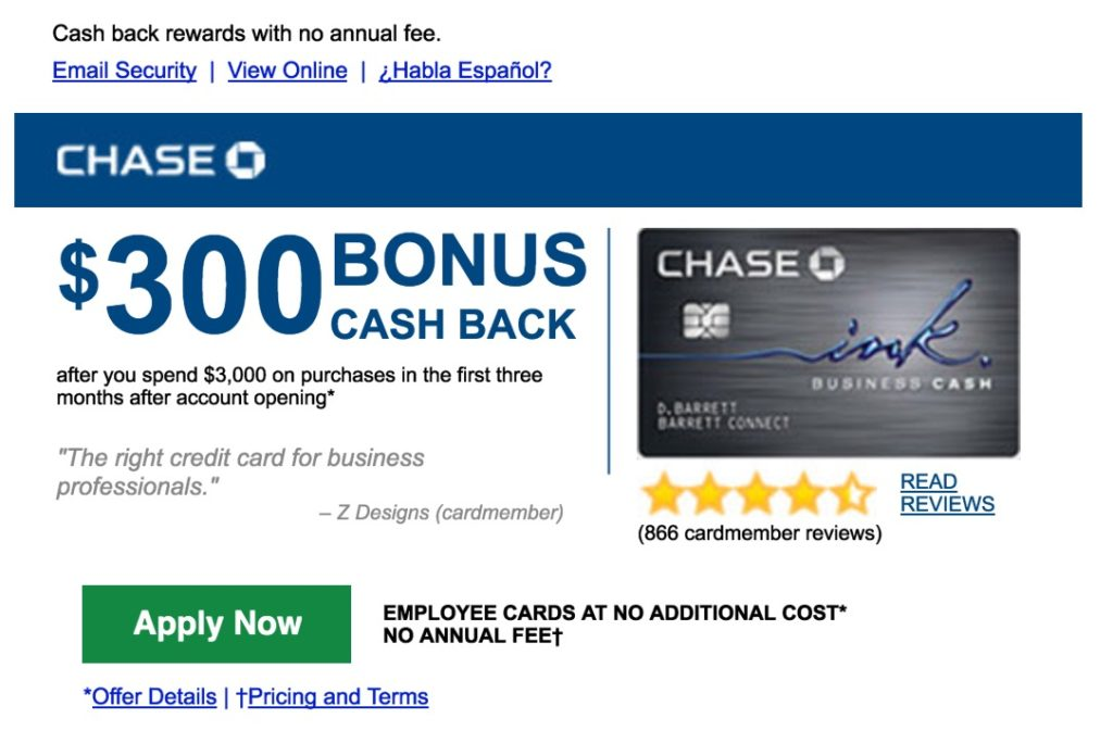 I\u0027m way over 5/24 but Chase just sent me a card offer by email - what can you offer me