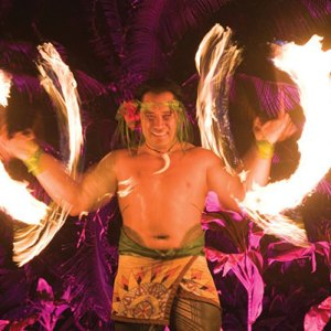 Grand Hyatt Kauai Luau fire dancer