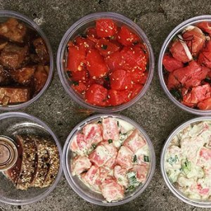 Hawaiian Ahi Poke selection