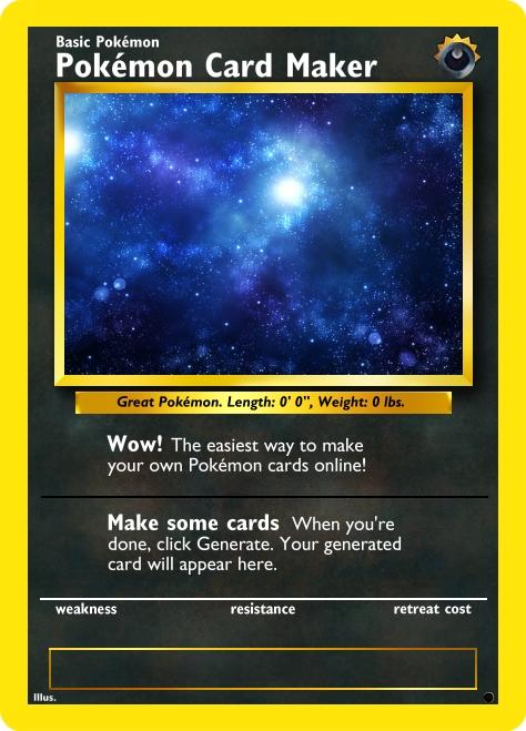 Pokémon Card Maker - pokemon template