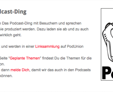 PodUnion – Das Podcast Ding Podcast