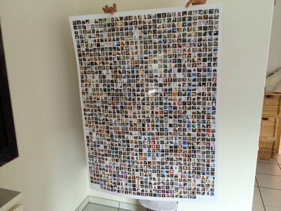 Socialprint - klebe dir deine Freunde an die Wand