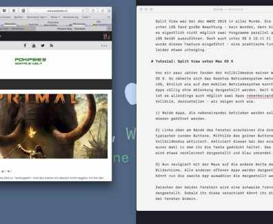 Tutorial – Split View OS X