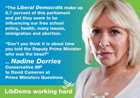 Nadine Dorries Party Ad