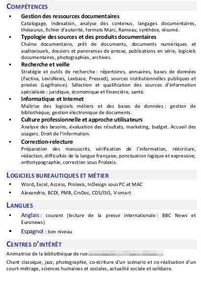 competences cv analyse de donnees