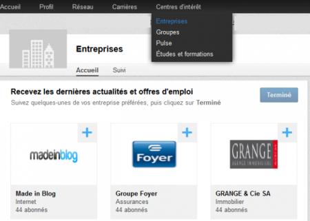 linkedin-pages entreprises