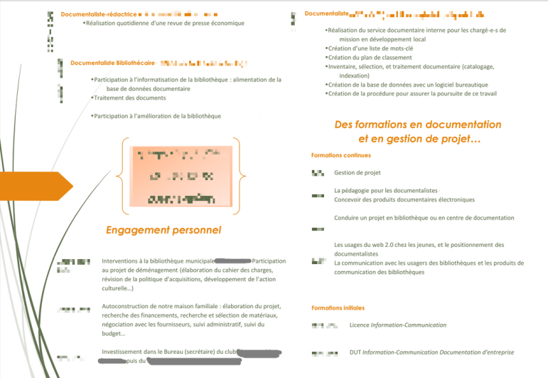 analyse de cv responsable documentation