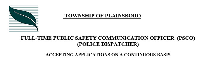 Plainsboro Township, NJ Police Jobs - Dispatcher PoliceApp