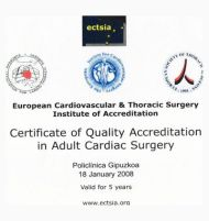 Certificación del European Cardiovascular & Thoracic Surgery Institute
