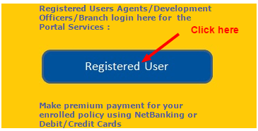LIC Payment online Register user page