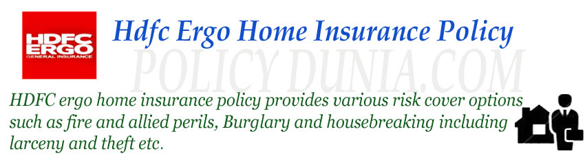 hdfc ergo home insurance policy image