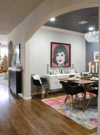 Modern Glam meets Mid-Century Christmas Dining Room ...