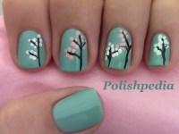 Japanese Cherry Blossom Nail Art   Polishpedia: Nail Art ...