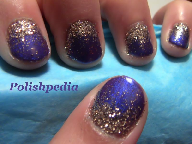 Purple Gold Glitter Ombre Nails Polishpedia Nail Art