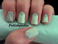 Triangle Nails With Glitter | Polishpedia: Nail Art | Nail ...