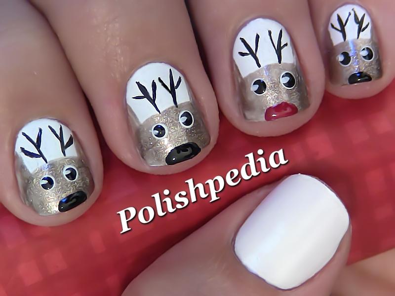 Reindeer Christmas Nail Art Polishpedia Nail Art Nail