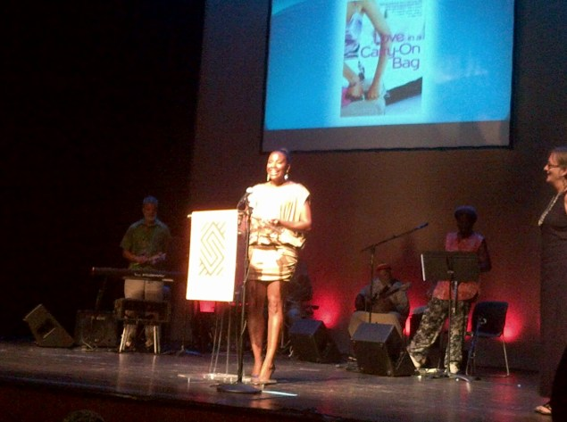 "Sadeqa Johnson Wins Award for ""Love in A Carry-On Bag"""