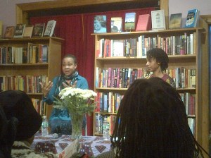 Dr. Joy Degruy (left) gives presentation at Sister's Uptown Bookstore