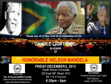 Candlelight Vigil in Memory of Mandela
