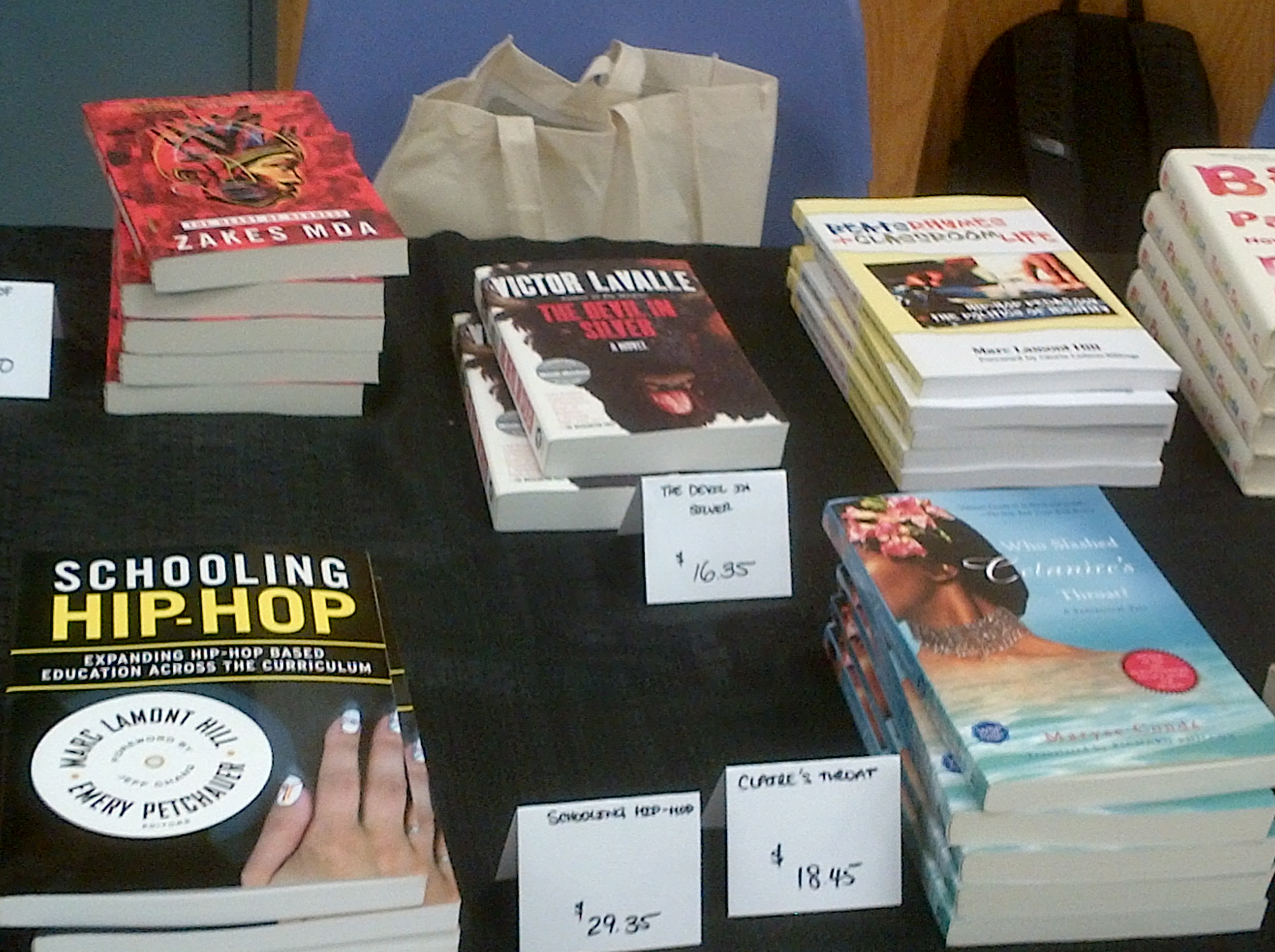 Books for sale at Brooklyn's National Black Writer's Conference 2014