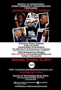 Marc Polite moderates discussion in Newark on Saturday, October 18th.