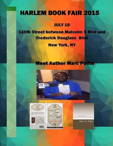 Marc Polite to be at Harlem Book Fair 2015!
