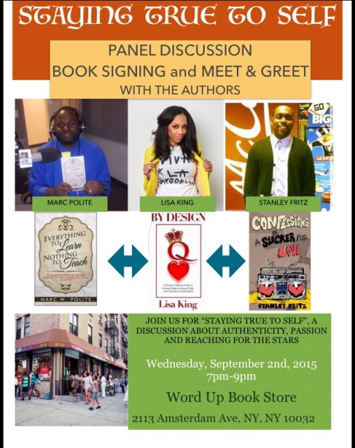 The book signing is now September 2nd!