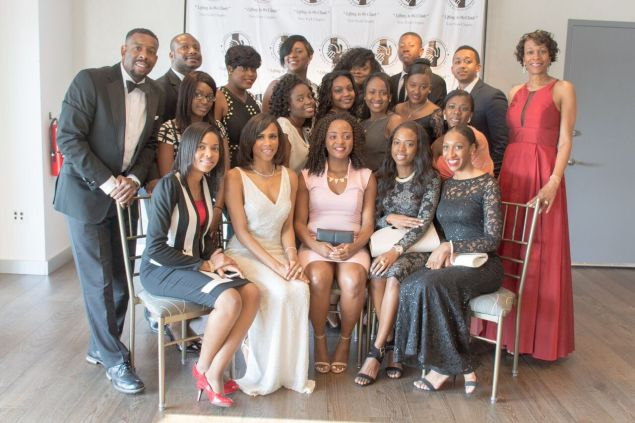 NABA Board with Scholarship recipients, NABA Gala 2016