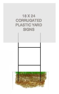 Yard Sign Holders | Political Road Sign Posts | Cheap Sign ...