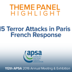 Theme Panel: The 2015 Terror Attacks in Paris and the French Response