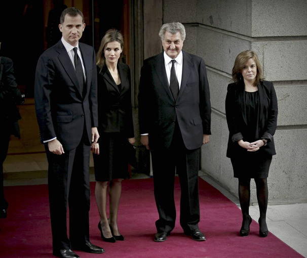 PRINCIPES VISITAN LA CAPILLA ARDIENTE DE ADOLFO SUÁREZ EN EL CONGRESO