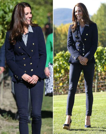 Incluso hubo tiempo para vestir de Zara...