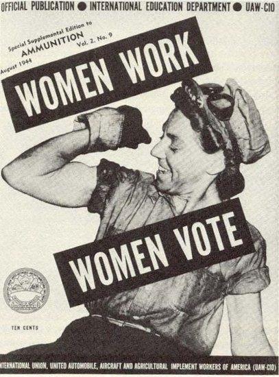 women vote women work