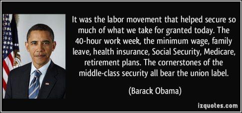 Obama labor Movement