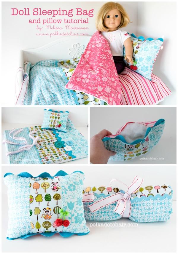 American Girl Doll Sleeping Bag Sewing Tutorial