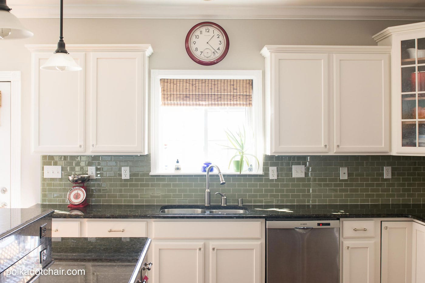 painted kitchen cabinet ideas kitchen makeover reveal paint kitchen cabinets white Before and After Photos of a Kitchen that had it s Cabinets Painted White lots of