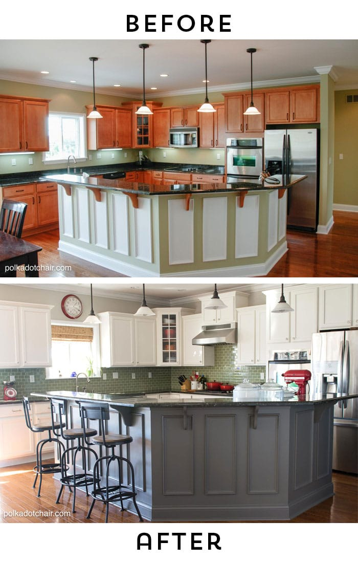 Painted Kitchen Cabinet Ideas and Kitchen Makeover Reveal - The - kitchen makeover ideas