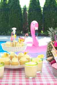 Summer Backyard Flamingo Pool Party Ideas - The Polka Dot ...