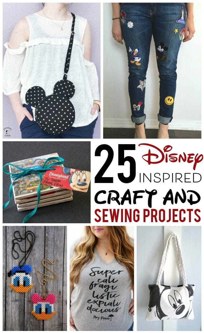 25 adorable diy disney craft and sewing projects
