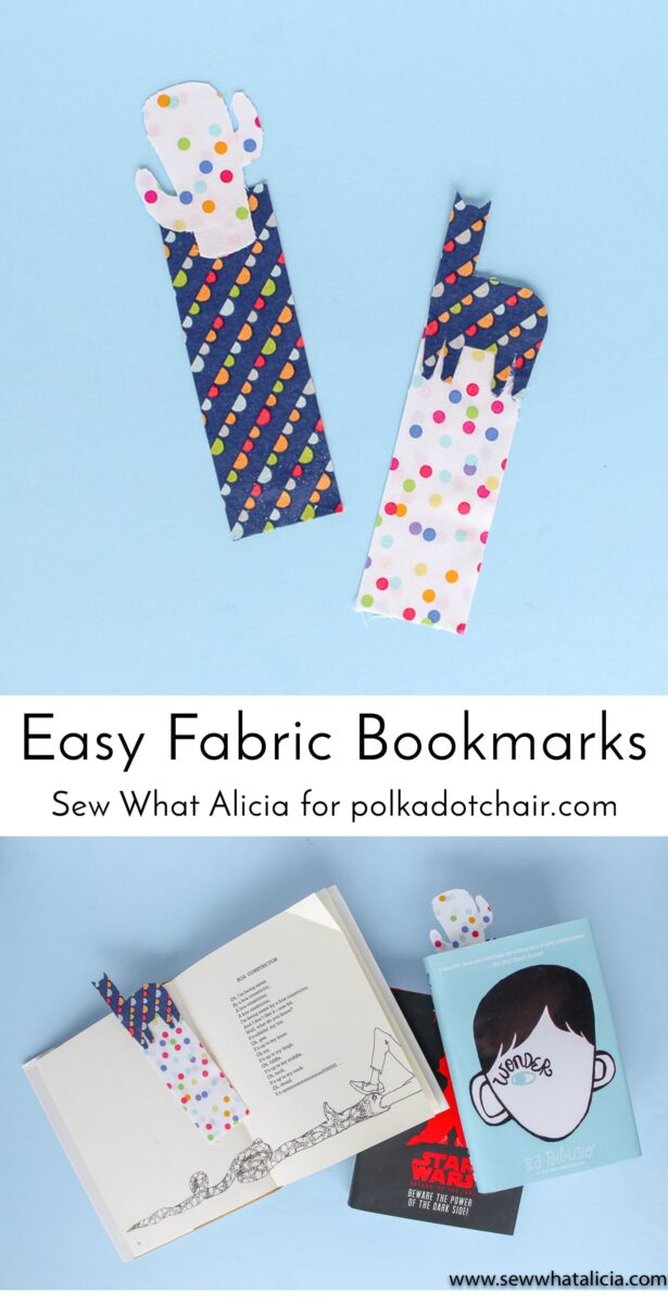 Easy Fabric Bookmark Tutorial - The Polka Dot Chair