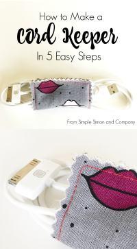 Simple DIY Cord Organizer Sewing Tutorial | Polka Dot Chair