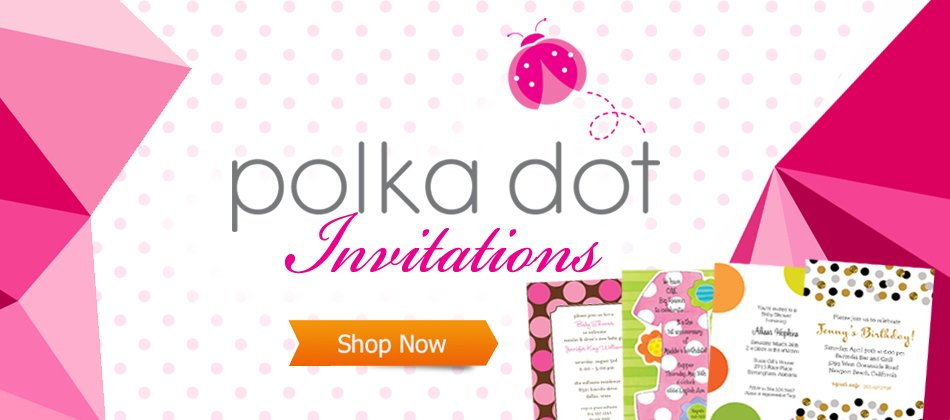 Invitations, Announcements, and Stationery Polka Dot Invitations