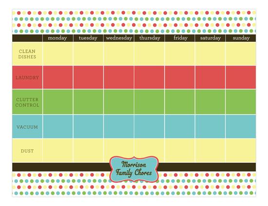 Chore List Calendar Pad cute chore list calendars for the kids