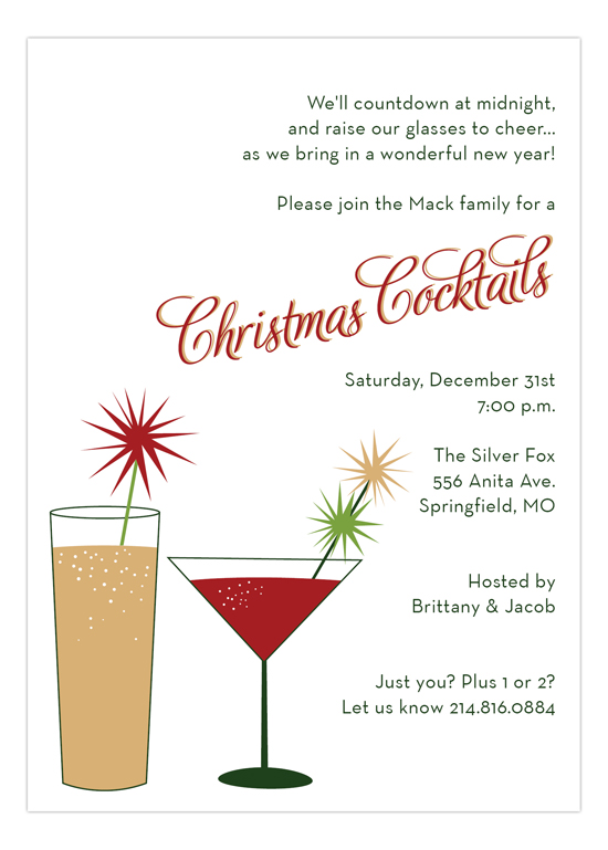 cocktail party invitation wording ideas