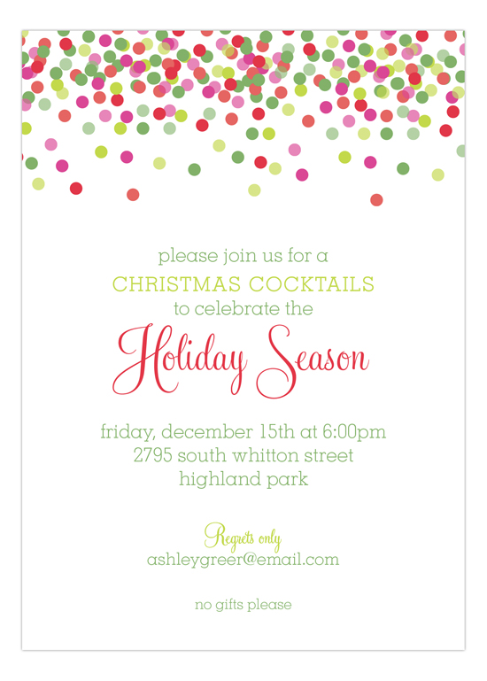 holiday invite cards