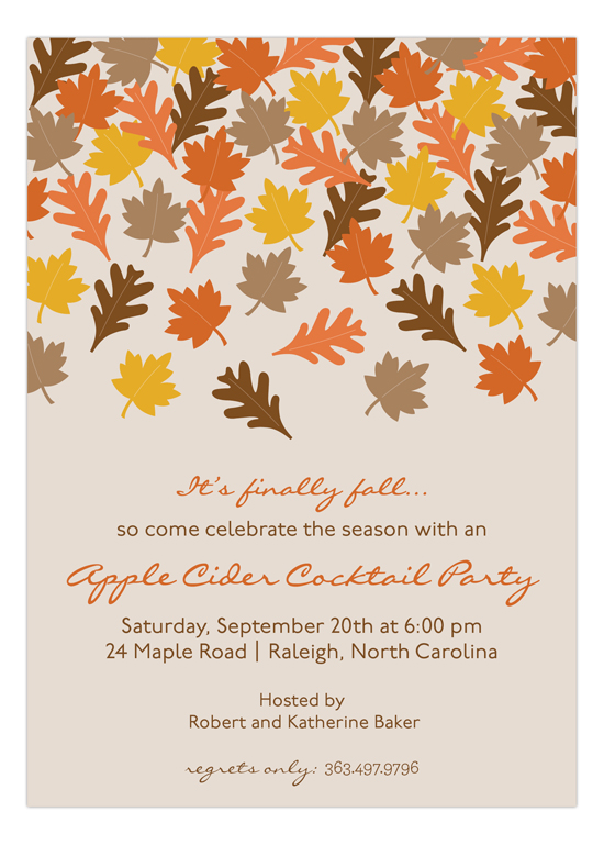 fall invitation templates