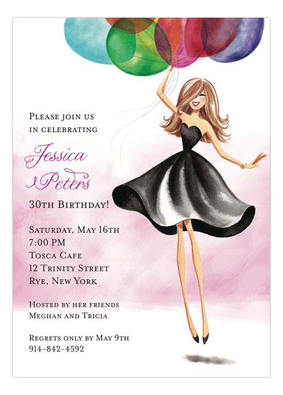 birthday invitation cards for girls