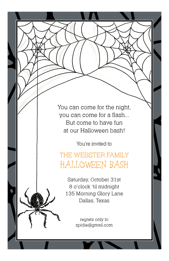 Halloween Spider Invitation Cute Halloween Invitation Ideas - halloween invitation